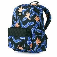 Vans Old Skool II Black White Floral Checkered Tropical Backpack Travel Bag NWT