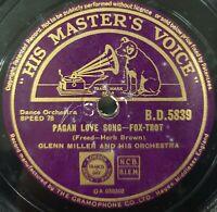 Glenn Miller & His Orchestra Pagan Love Song 78 Rpm Gramophone Record