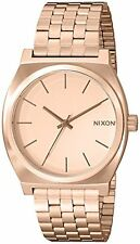 Nixon Time Teller Rose Gold-Tone Stainless Steel Quartz Ladies Watch A045-897