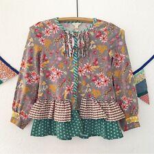 Matilda Jane Girl's Size 10 Long Sleeved Tunic Top Ruffle Shirt Button Up Fall
