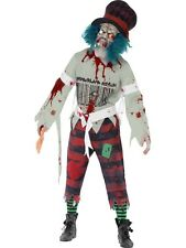 Zombie Mad Hatter Halloween Horror Fancy Dress Costume Size Large