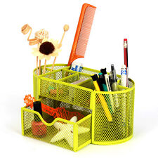 Mesh Storage Organizer Desk Desktop Office Supplies Card Pen Holder Tray Green