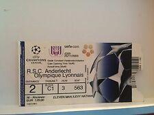 Football Ticket - UEFA - Champions League - RSCA Anderlecht Olympique Lyonnais