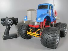 Used Vintage Tamiya 1/10 RC Bullhead Monster Truck with Remote Control