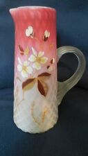 EAPG - Phoenix Art Glass - Pitcher & 3 mugs  Air-trap Ruby Die-away Satin finish