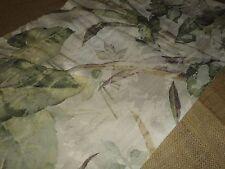 CROSCILL CABANA RAFFIA SOUTH SEAS GREEN CREAM LEAVES TROPICAL VALANCE 16 X 41