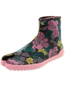 Irregular Choice Sandy Toes (A) Pink floral Split Toe Ankle Boots Shoes
