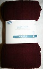 "Women Medium Large Old Navy Tights Control Top Maroon 5'3""-6.0'"