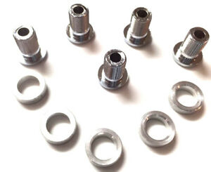 sugino chainring bolts stamped spacers 12mm Inner triple crankset NOS