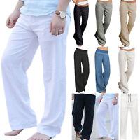 Mens Womens Yoga Dance Jogging Pants Trousers Sweatpants Loose Slacks Summer Gym