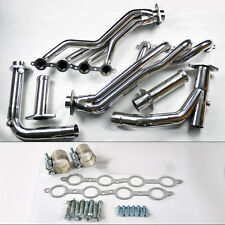 Chevy GMC 07-14 4.8L 5.3L 6.0L Long Tube Stainless Steel Headers w/ Y Pipe