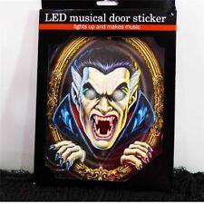 3D VAMPIRE LED LIGHT UP MUSICAL DOOR STICKER~Halloween Door Decoration~NEW