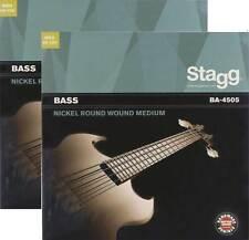 2x Basssaiten Bassaiten 045-105 Bass-Gitarre E-Bass Saiten Seiten Stagg BA4505