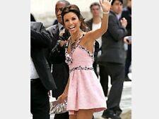 CHANEL  Rare Classic Tweed Pink Dress Sz 36