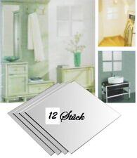 12 Stück Spiegelfliesen Klebespiegel Spiegelkacheln 15x15 cm 12-tlg. Spiegel Set