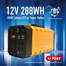 12V 26AH 288WH 500W Lithium Portable Power Station w 240V Inverter Solar Support