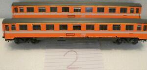 TWO ROCO SNCF ORANGE 1ST CLASS CARS, NO BOX (2) 4236
