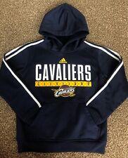 Adidas Blue Cleveland Cavaliers Youth Kids Size Small 8 NBA Hoodie Sweatshirt