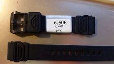 BRACELET MONTRE  pvc*  noir* 16mm *  REF.PC51