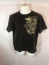 Men's CLASSIC OZ AUSTRALIA Dark Brown Graphic Tshirt Sz M
