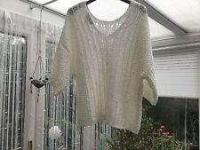 Ladies White Short Sleeved Jumper Size M From Next
