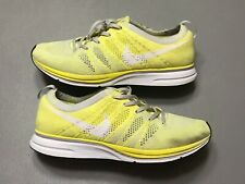 2013 Nike Flyknit Trainer Pale Frozen Yellow White Running Size 11.5 532984-710