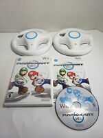 Mario Kart game Nintendo Wii With 2 Wheels & Manual Complete Cib bundle! A8