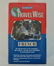 New Barron's Travel Wise French 80 Min Audio Tape 304 pg Phrase Book Dictionary