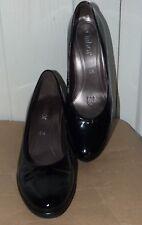 Ladies Black Patent Leather GABOR Court Shoes Size 5.5 (38.5)