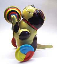 Alter, mechanischer Blech-Hund mit Ball, Made in China, 1970er / 80er, selten!