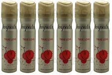 6 X Impulse Body Fragrance 75ml Spray True Love Freesia & Tangerine