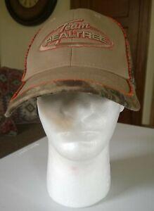 Team Realtree Camo Tan Orange Signatures Adjustable One Size Baseball Hat Cap