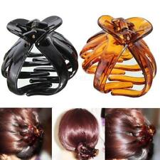 Black & Brown Set / Women Octopus Hair Claw Clips Hairpin Butterfly Clamps Grips