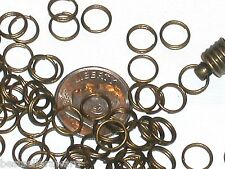 10pc lot Bronze plated double jump rings for bottle cap tops beads findings 7mm