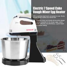 220V 100W Milk Egg Beater Kitchen Electric 7 Speed Cake Bread Dough Mixer w/Bowl