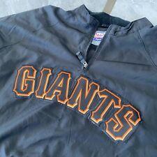 San Francisco SF Giants Majestic Cool Base 1/4 Zip Pullover Jacket windbreaker