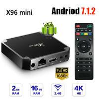 X96 Mini Smart TV BOX S905W Quad Core 4K WiFi 2+16G Android7.1 HDMI Media Player
