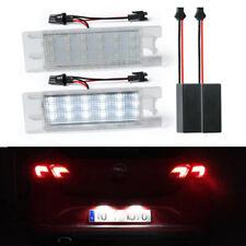 White LED License Plate Light For Opel Astra J H Adam Vectra Corsa C D Zafira B