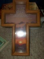 Wooden 3D Crucifix Wall Hanging... And God so Loved His Son...11 x 15""
