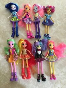 My Little Pony Equestria Sunset Shimmer Sweet Sour Lemon Zest Pixel Doll Lot