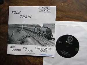 "FOLK TRAIN MIKE DONALD SETTLE - CARLISLE RAILWAY VERY RARE 7"" EP 1970"