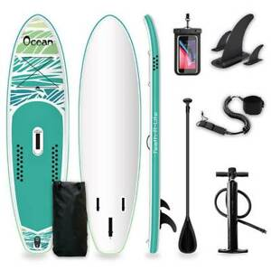 """Fayean Fun Water Premium Double Layer Inflatable SUP Paddle Board 10'6""""x33""""x6"""""""