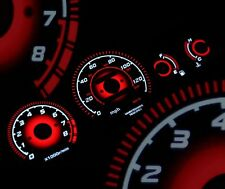 fits 96-00 Ek Honda Civic Ex Radiant Red Glow Gauge Black Mt Gauges