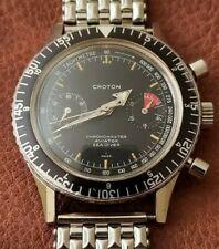 Rare Nivada Croton Chronomaster Vintage Chronograph Watch w/ Box - Valjoux 23
