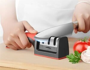 Knife Sharpener 3 Stage Steel Diamond Ceramic Coated Kitchen Sharpening Tool