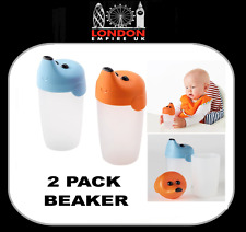 IKEA SMASKA Babies Toddlers 2 Pack Training Beaker 19 cl 0 Age Twin Pack Cup NEW