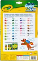 Crayola Washable Super Tips Fine Line Markers - Assorted Ink - 50 / Pouch