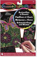 Melissa & Doug Scratch Art: Butterflies and Flowers - 15956 - NEW!