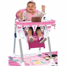 Baby Minnie Mouse 1st Birthday High Chair Decorating Kit Disney. Amscan