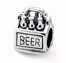 Sterling Silver Reflections Six Pack Beer Bead QRS1903